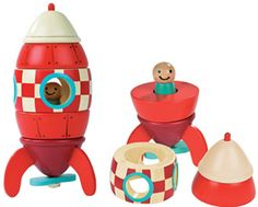 Janod Stacking Magnetic Toy Rocket.  Janod site: http://www.janod.com/