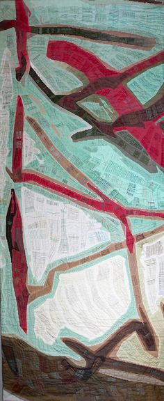 """The website shows broken links now, but this looks amazing.  """"An Exquisite Moment"""" in Long Beach! #maps #textile_art"""