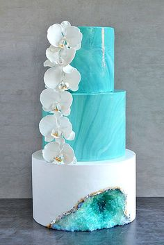 Be in trend! Geode Wedding Cakes For Stylish Event ❤ Geode wedding cakes have become bridal must-haves this season. See more: http://www.weddingforward.com/geode-wedding-cakes/ #wedding #cakes