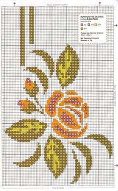 PONTO CRUZ DA LZ: toalha de mesa Cross Stitch Fruit, Butterfly Cross Stitch, Cross Stitch Rose, Embroidery Stitches, Embroidery Patterns, Hand Embroidery, Cross Stitch Designs, Cross Stitch Patterns, Prayer Rug