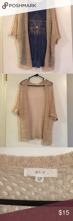 Cardigan Great open weave cardigan. Perfect for a bit of cover up. Mine Sweaters Cardigans