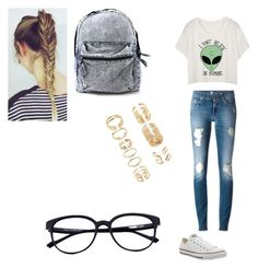 Casual by dudeitsaaliyah on Polyvore featuring polyvore, moda, style, Converse and Forever 21