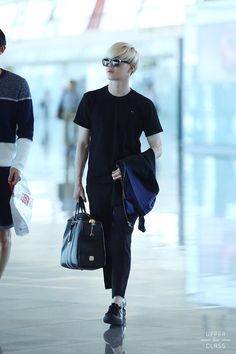 my suho Kpop Fashion, Korean Fashion, Mens Fashion, Airport Fashion, Kpop Mode, Huang Zi Tao, Suho Exo, Exo Ot12, Kim Joon