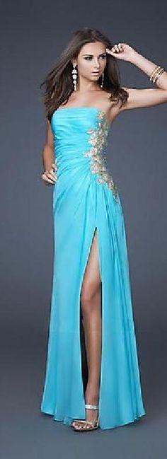 Fashion Sleeveless Long Natural Strapless White Evening Dresses dadadresses10228vertgh #longdress #promdress