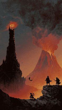 "Barad-dûr, the ""Dark Tower"" – J. Tolkien's Middle-earth -Lord of the … Barad-dûr, the ""Dark Tower"" – J. Tolkien's Middle-earth -Lord of the Rings / The Silmarillion"