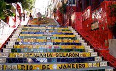 Escadaria do Selraron Endereço Rua Joaquim Silva - Lapa, Rio de Janeiro