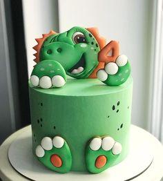 Dinosaur Birthday Cakes, Dinosaur Cake, Kid Cupcakes, Cupcake Cookies, Dino Cake, Cakes For Boys, Birthday Cookies, Creative Cakes, Baby Shower Cakes