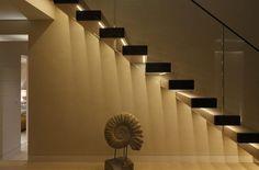 Stairway lighting Ideas with spectacular and moderniInteriors, Nautical stairway, Sky Loft Stair Lights, Outdoors Stair Lights, Contemporary Stair Lighting. Staircase Lighting Ideas, Stairway Lighting, Deck Lighting, Strip Lighting, Interior Lighting, Lighting Design, Wall Lighting, Lights On Stairs, Luxury Staircase