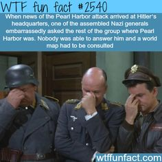 When Pearl Harbor was attacked 1941 - WTF fun facts<<< omg why did they use a screen cap from Hogan's Heroes...