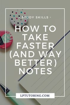 Do you fall behind in class while taking notes? Or are your notes just not that useful? Get tips to not only take faster notes, but also better notes! Study Skills, Study Tips, Online College, College Tips, Education College, College Mom, College Club, College Notes, Education Degree