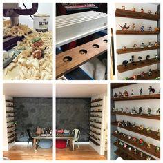 "Photo credit r/amiibo u/skullski Custom made 48"" shelves"