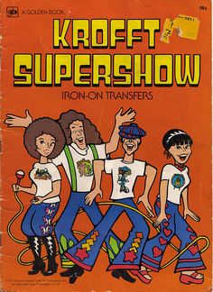 Sid and Marty Krofft Supershow Iron On Book - Cover - 1977 Nostalgic Music, 70s Tv Shows, Kids Tv, Iron On Transfer, Classic Tv, Old Toys, Live Action, Childhood Memories, Coloring Books