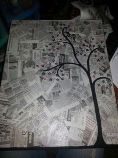 Newspaper and paint craft... loved painting this tonight :)