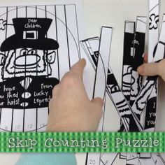 Skip-Counting Freebie by Mrs Miners Monkey Business - This freebie is another follow up to Lucky the Leprechaun's shrinking hat visit. It is a count by 2 puzzle that, when the children put it together, reads a message from Lucky the Leprechaun!