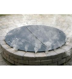 wire mesh lids cover for firepits   Home : Heavy-Duty Steel Round Fire Pit Cover