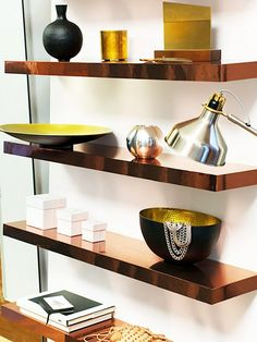 Floating Copper Shelves