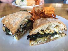 The Larder at Burton Way - Los Angeles, CA, United States. Artichoke and Meyer lemon sandwich. Absolutely phenomenal