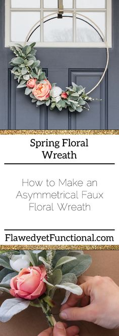The Most Spectacular Farmhouse Spring Time Wreaths! - The Cottage Market : The Most Spectacular Farmhouse Spring Time Wreaths! – The Cottage Market Diy Spring Wreath, Spring Front Door Wreaths, Twig Wreath, Snowflake Wreath, Tulle Wreath, Snowman Wreath, Diy Snowman, Modern Wreath, Faux Flowers