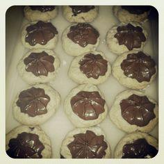 Shortbread chocolate frosting cookies