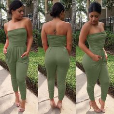 e252f836f6c1 2017 summer new 3 colors fashion women rompers and jumpsuit strapless womens  sexy bodysuits one piece