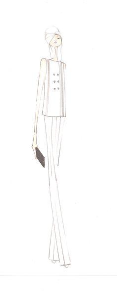 Fashion Sketch - elegant chic fashion illustration // Erin Fetherston