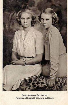 Princess Elisabeth and Princess Marie Adelaide of Luxembourg