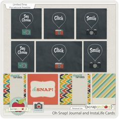 Free Oh Snap! Journal Cards from CaptureYour365 {Scrap Orchard Facebook Hop}