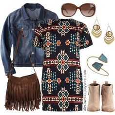 Plus Size - Aztec Dress, created by alexawebb on Polyvore