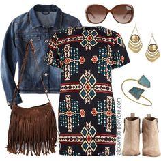 """Plus Size - Aztec Dress"" by alexawebb on Polyvore"