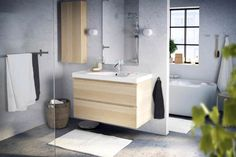 Les meubles-lavabos GODMORGON au look aérien s'agencent à merveille à n'importe quelle salle de bains.