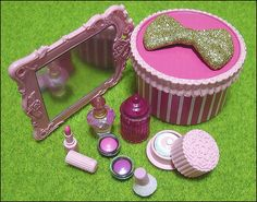 Re-ment (Rement) Japanese Miniatures: Flirty Pink Make-up Box Cosmetics by HarapekoDoggyBag, via Flickr