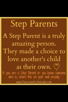 Step Parent love ❤ Thank God everyday that my children have such a wonderful step dad Love My Kids, Family Love, My Love, Family Quotes, Me Quotes, Funny Quotes, Quotable Quotes, Step Parenting, Parenting Advice