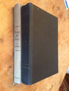 JD Salinger Lot (2) Vintage HC Franny & Zooey Nine Stories 1st ed. 8th printing