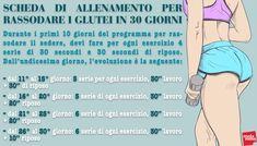 Esercizi glutei: il programma per tonificarli in 30 giorni – Melarossa Wellness Fitness, Fitness Inspiration, Exercise, Gym, Memes, Sports, Workouts, Training, Homemade