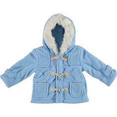 Zip Zap Baby Blue Duffle Coat