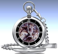Al Agnew Spirit Of The Wolf Men's Pocket Watch