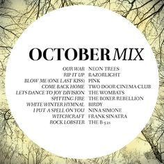 October Playlist | Includes The B-52's, Pink and Frank Sinatra