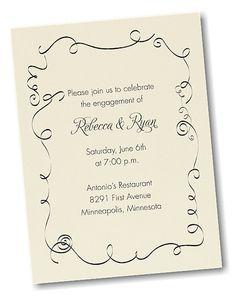 Swirl Border Party Invitation