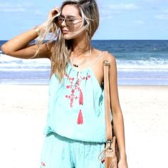 LAST ONE! | NEW Aqua Mermaid Playsuit SPRING + SUMMER Collection | Small & Medium | Avail now | Beautiful High Quality, designed in Australia.  *1 LARGE LEFT!* La Luna Gypsy Other
