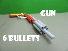 How to Make a Poweful Paper Gun that shoots 6 Paper Bullets - Easy Tutorials - YouTube