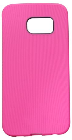 Samsung S6 Edge Silicone Back Case (Pink)