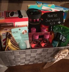 Nurse graduation gift diy gift basket uniquelywomen diy nurse survival kit graduation gift solutioingenieria Gallery