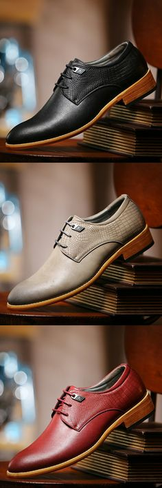 US $23.95 <Click to buy> Luxury New Arrival Spring Gentleman British Style Leather Business Male Platform Wedding Shoes Men Dress Wingtip Design