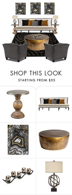 """Untitled #716"" by angela-vitello on Polyvore featuring interior, interiors, interior design, home, home decor, interior decorating, Oliver Gal Artist Co., Mikasa and Signature Design by Ashley"