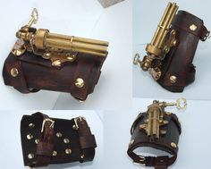 Steampunk wrist gun 1 by ~Hexonal on deviantART