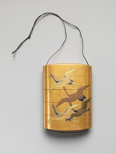 Case (Inrō) with Design of Seven Cranes in Flight  Period:     Edo period (1615–1868) Date:     18th–19th century Culture:     Japan