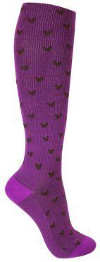 violetti tukisukka mustilla sydämillä Socks, Fashion, Moda, Fashion Styles, Sock, Stockings, Fashion Illustrations, Ankle Socks, Hosiery
