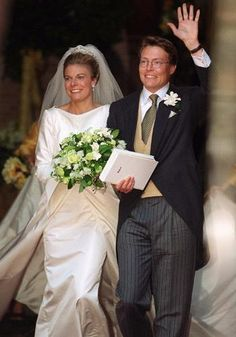 May 19, 2001...Laurentien Brinkhorst and her husband, Prince Constantijn of the Netherlands.