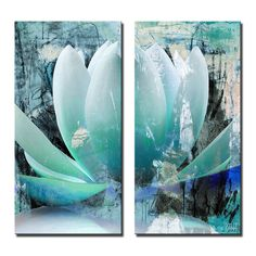 Ready2HangArt 2 Piece 'Painted Petals XXIV' Canvas Art Set | Overstock.com Shopping - The Best Deals on Gallery Wrapped Canvas