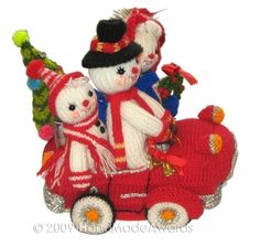 The Snow FAMILY at CHRISTMAS Pdf Email Knit par HandMadeAwards